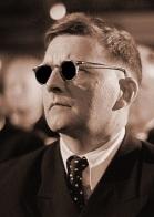 Dmitri Shostakovich with dark glasses
