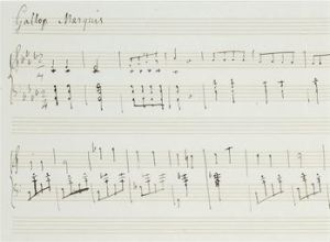 Manuscript of Chopin's Galop Marquis