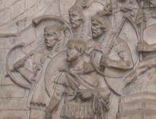 Cornu players (cornicen) on Trajan's Column
